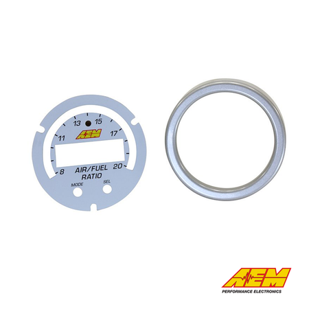 AEM Electronics X-Series Wideband UEGO AFR Sensor Controller Gauge Accessory Kit Silver/White Bezel