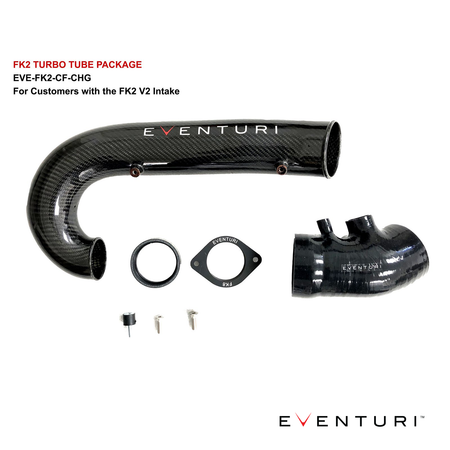 Eventuri Carbon Fibre Turbo Tube | Honda Civic Type R | FK2 2.0T K20C1 | 2015-2016