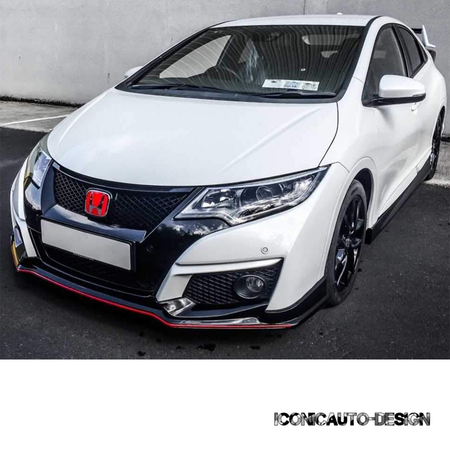 Iconic Autodesign FK2 Type R Replica Body Kit | Honda Civic Hatchback 9th Gen | 2014-2017
