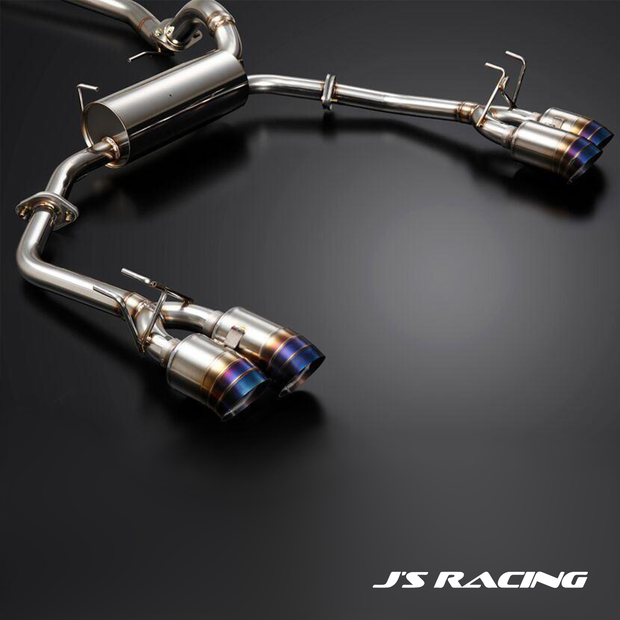 J's Racing SUS Exhaust Plus Dual Semi-Titanium 70RS Exhaust System | Honda Civic Type R | FK2 2.0T K20C1 | 2015-2016