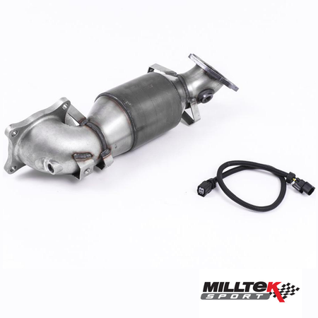 Milltek Downpipe With HJS High Flow Sports Cat | Honda Civic Type R | FK2 2.0T K20C1 | 2015-2016
