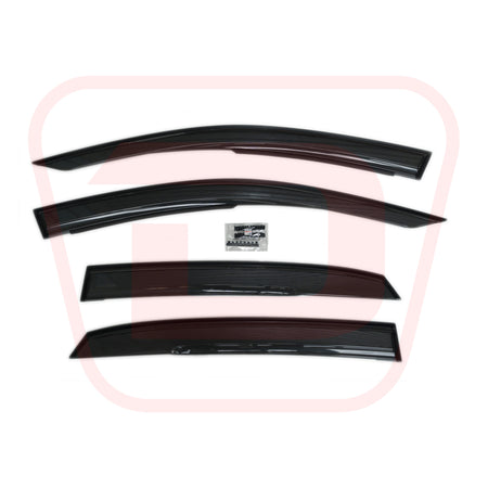 Mugen Ventilated Visor Wind Deflector Set | Honda Civic Type R | FK8 2.0T K20C1 | 2017+
