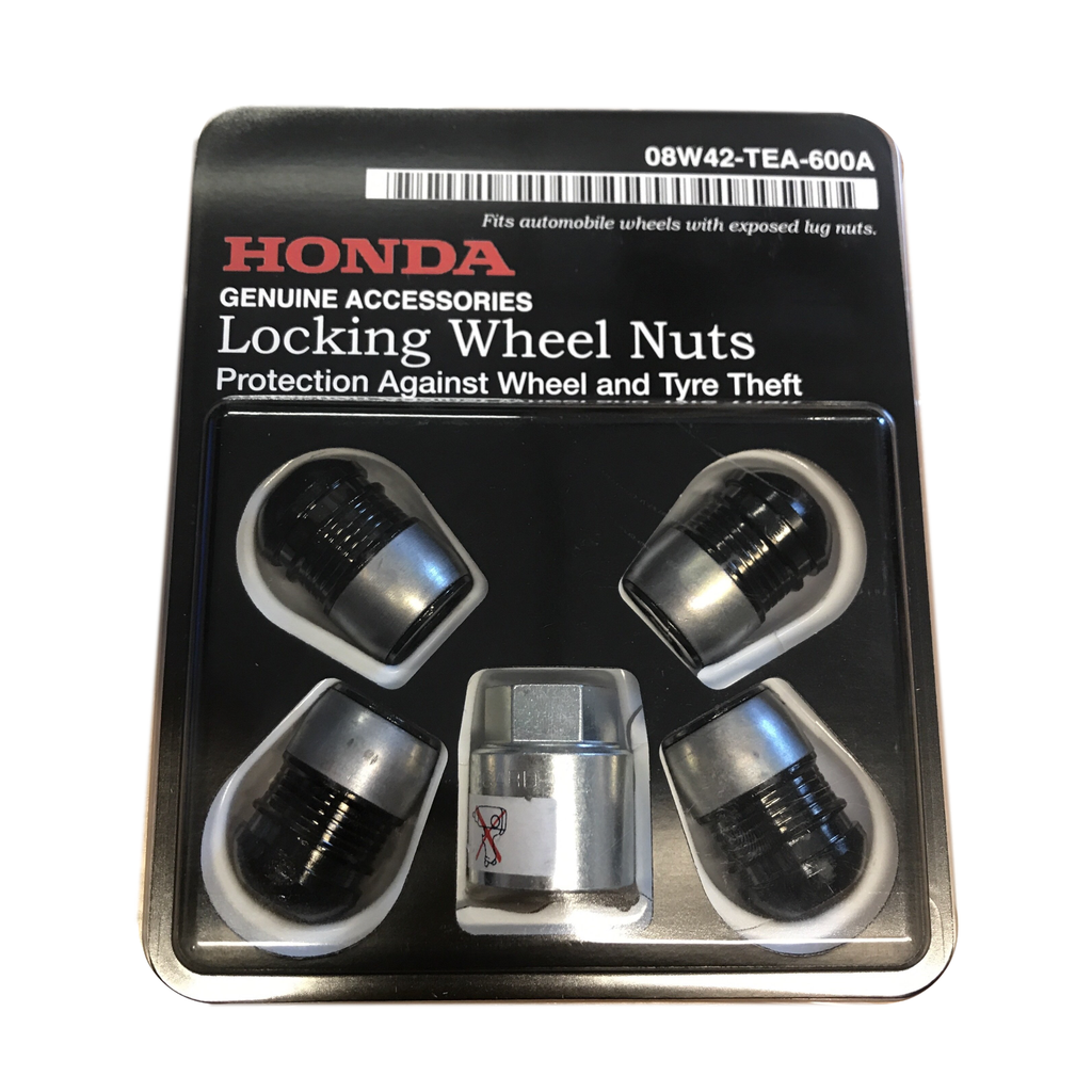 Genuine Honda Black Locking wheel nut set