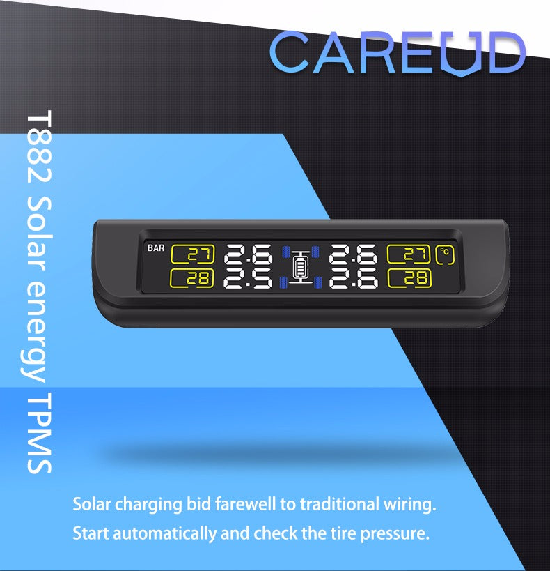 Careud 882 Wireless Solar Powered Tyre Pressure Monitoring System