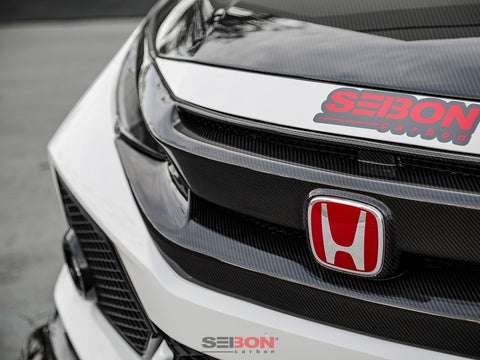 OEM-STYLE CARBON FIBER FRONT GRILLE FOR 2016-2018 HONDA CIVIC