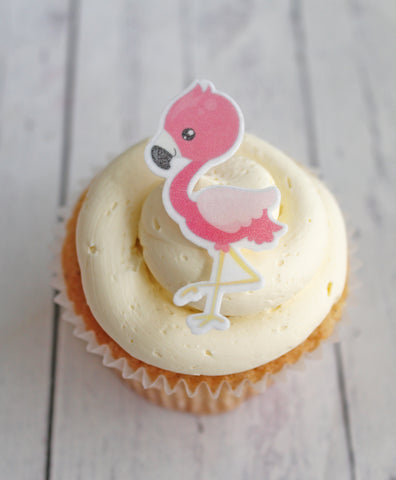 WAFER EDIBLE FLAMINGO TOPPERS