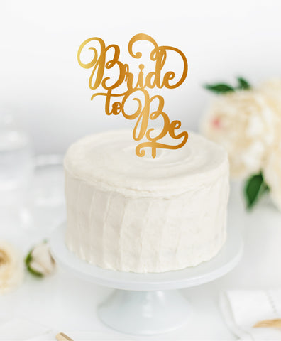 Acrylic Cake Topper 'BRIDE TO BE'