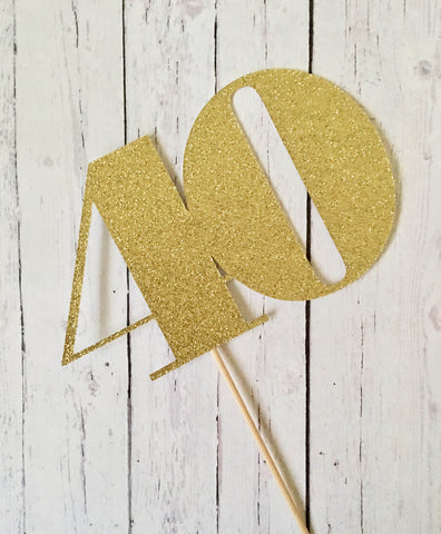 Cardstock DOUBLE DIGITS Cake Topper