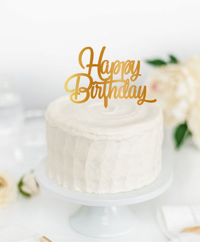 Acrylic Cake Topper 'HAPPY BIRTHDAY'
