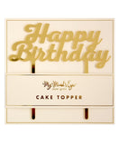 Acrylic Gold Mirror 'HAPPY BIRTHDAY'