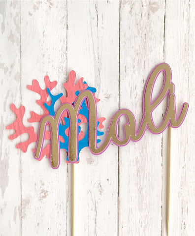 CUSTOM 'NAME ONLY' CARDSTOCK CAKE TOPPERS