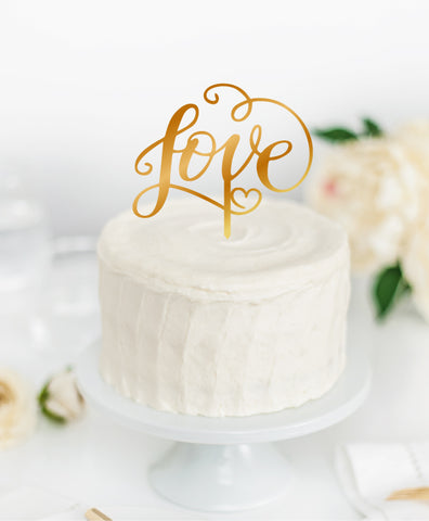 Acrylic Cake Topper 'LOVE'