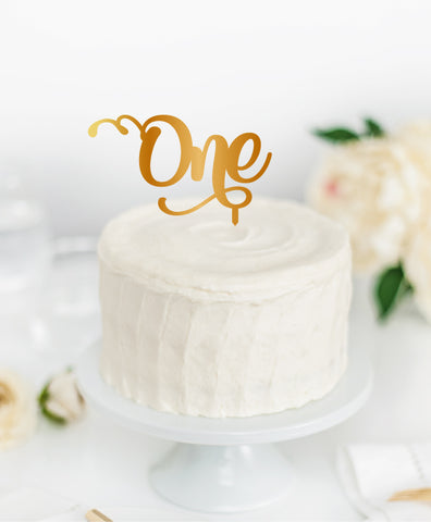 Acrylic Cake Topper 'ONE'