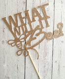 WHAT WILL IT BEE?? Cardstock Cake Topper