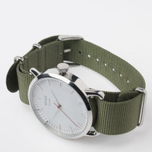AR/WE Sweden (arweswe and arwe sweden) white and green NATO watch. Simplistic and minimalistic watch from Sweden for both him and her.