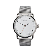 The AR/WE Sweden (arweswe) No.1 - White/Mesh. Minimalistic and simplistic quality mesh watch for both him and her