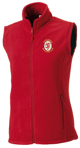 Women's Battlefield BC Red Fleece Bodywarmer