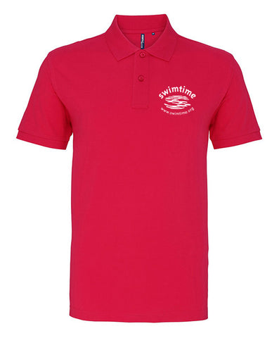 Men's Swimtime Office Polo Shirt Pink