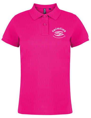 Women's Swimtime Office Polo Shirt Pink