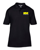 NSC Essential Men's College Polo Shirt. Available in Grey/Yellow/Black