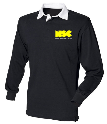 NSC Campus Black Superfit Rugby Shirt