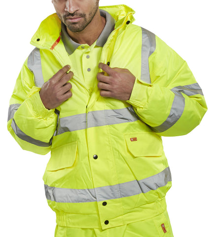 Construction NSC Hi Vis Bomber Jacket
