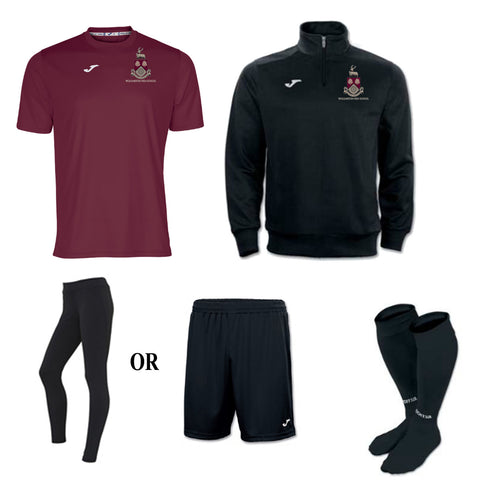 WHS Girls Black + Burgundy PE Package - Senior Sizes