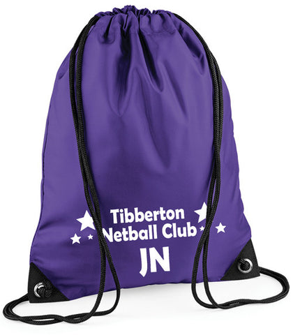 TNC Purple Drawstring Bag