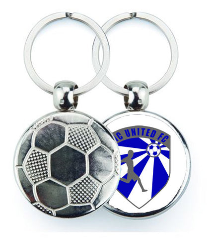 NC United Football Keyring