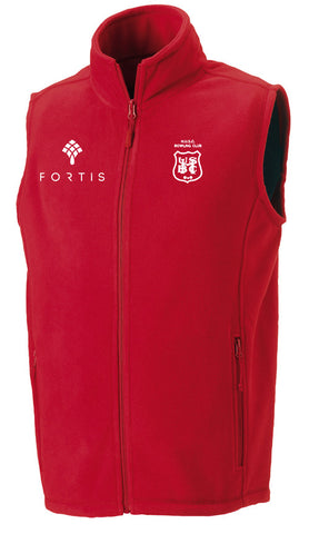 Hadley BC Red Fleece Gilet
