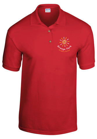 Grange Park School Polo Shirt Red