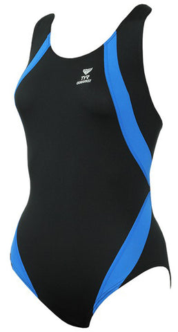 1 Telford Aqua SC Black/blue TYR Club Suit