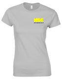 NSC Women's Essential Course Tshirt. Available in White/Black/Grey