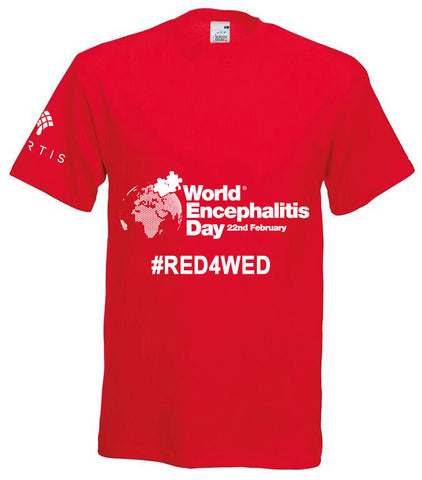 World Encephalitis Day Red Tshirt