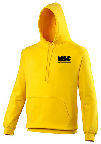 NSC Essential College Hoodie. Available in Grey/Yellow/Black