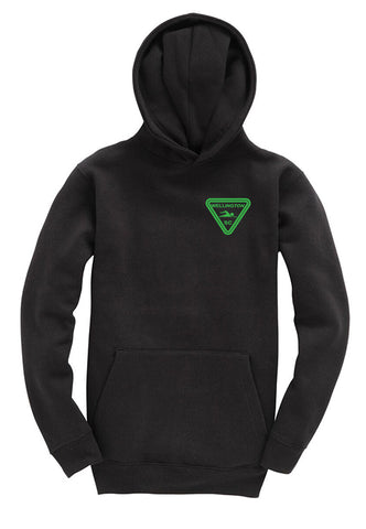 Wellington SC Junior Black pullover hoodie