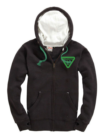 Wellington SC Black zipped super hoodie