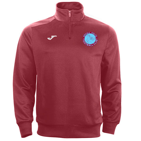 ECJFC burgundy 1/4 zip jacket