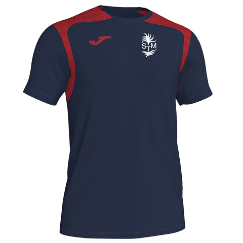 1. St Thomas More Navy/red Training Shirt