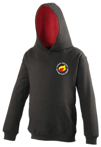 Beeches Senior Black/red Contrast Hoodie