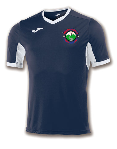 Wrekin Juniors FC Navy/white training shirt