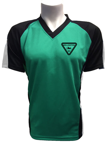 Wellington SC Green poolside training shirt