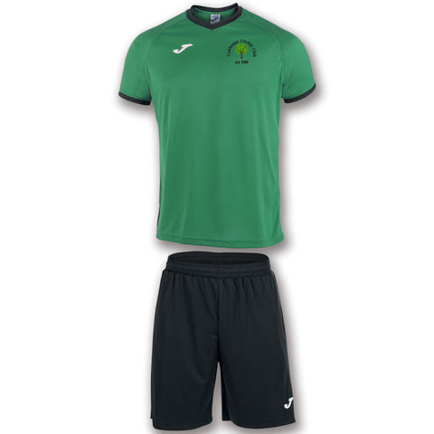 Senior Cutthorpe Cricket Club Green/black shirt & short set
