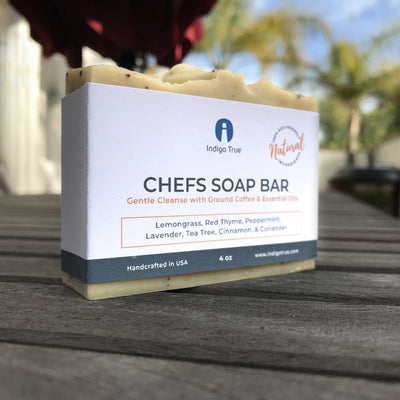 Chefs Soap Bar - Ground Coffee and Essential Oils (4oz)