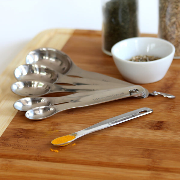 Stainless Steel Measuring Cups and Spoons - 12 pieces with Measurement Conversions Magnet