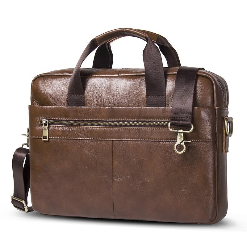 Genuine Leather Laptop Messenger Bag