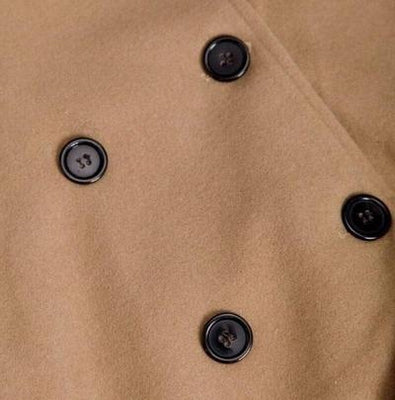 Kogoro Coat Camel Button Front Detail