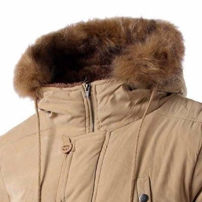 NinjApparel - Snow Master Jacket - Khaki - Collar