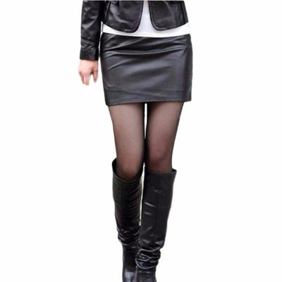 NinjApparel - Faux Leather Skirt - Cover