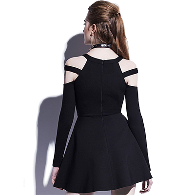 Division Cold Shoulder Dress - NinjApparel - View 4